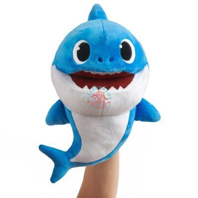 Baby Shark Cápa család ütemre zenélő plüss - Apacápa