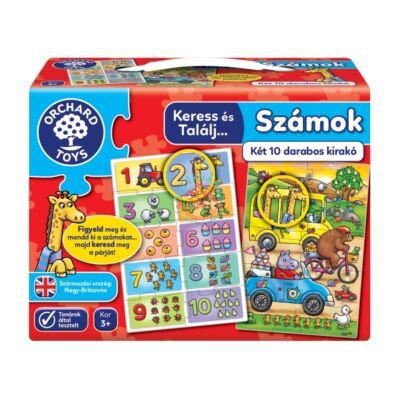 Orchard Toys Keress és találj, 2*10 db-os puzzle, számok társasjáték