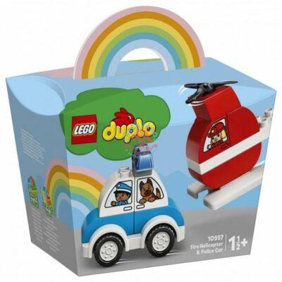 Lego DUPLO My First Tűzoltó helikopter és rendőrautó 10957