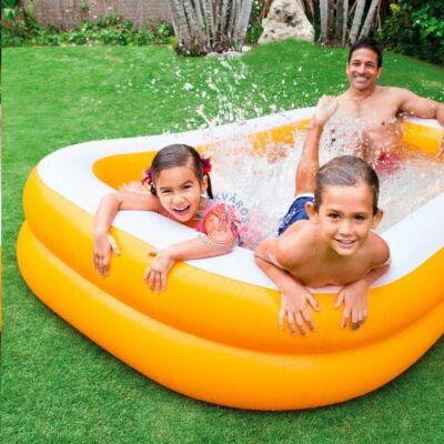 Narancssárga családi medence 229x147x46 cm Intex