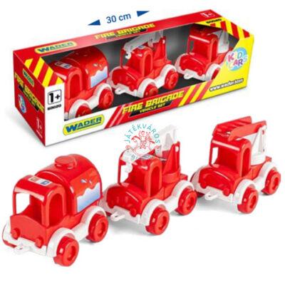 Wader Kid Cars - tűzoltóság szett
