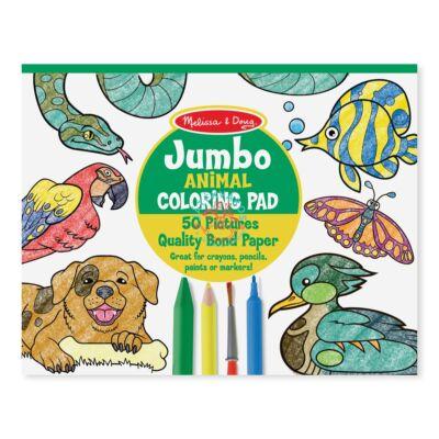 Melissa & Doug jumbo színező,állatok