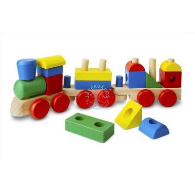 Melissa & Doug Fa vonat építő
