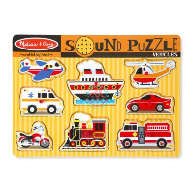 Melissa & Doug Fa Hangos puzzle, járművek