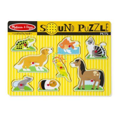 Melissa & Doug Fa Hangos puzzle, háziállatok