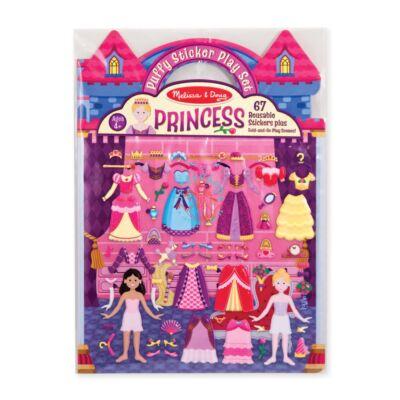 Melissa & Doug Pufi matrica készlet, hercegnő